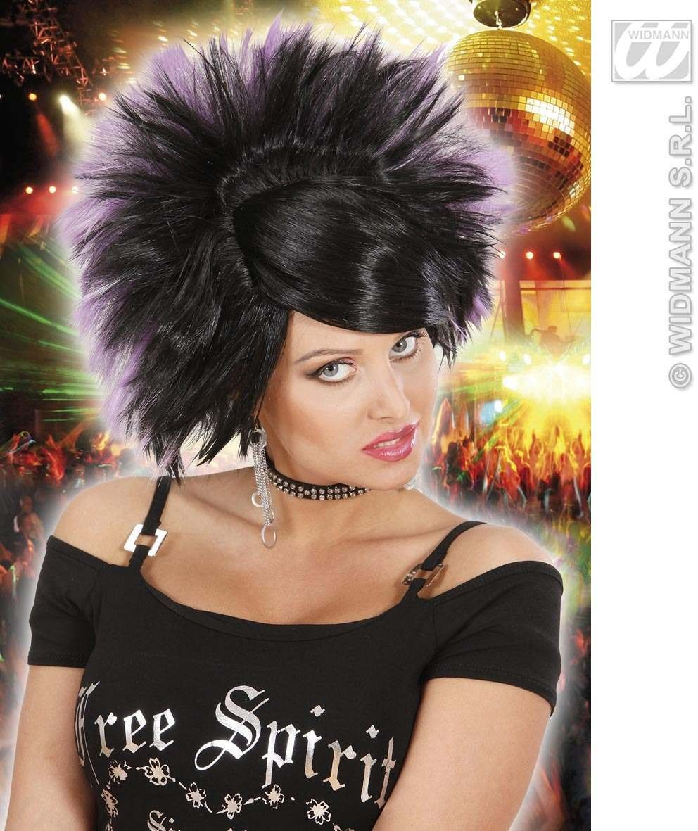 Rock Princess Wig - Black/Purple - Fancy Dress