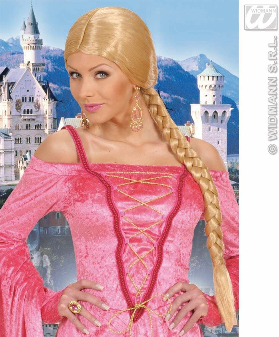 Castle Beauty Wig W/Plait - Blonde - Fancy Dress