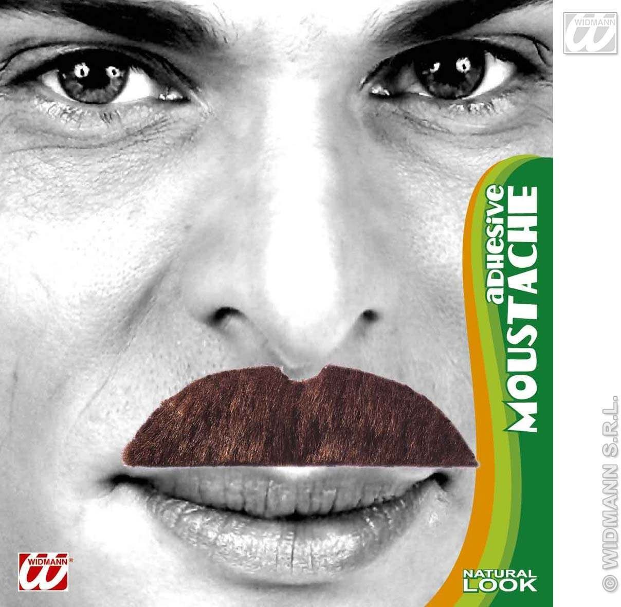 Moustache 6 Styles Brown - Fancy Dress