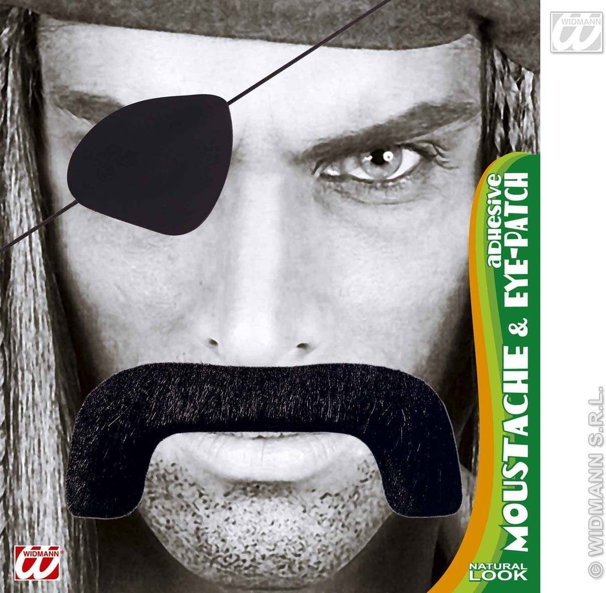 Pirate Moustache / Eyepatch - Fancy Dress (Pirates)