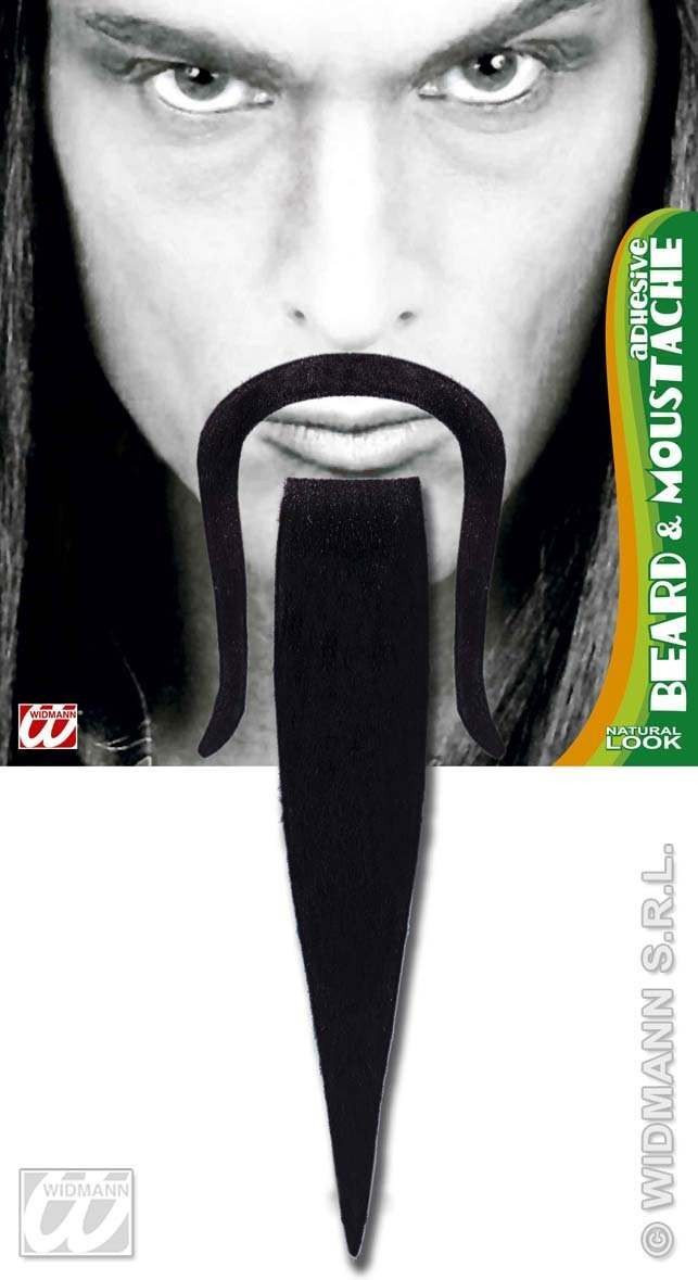 Chinese Beard & Moustache Black Adhesive - Fancy Dress