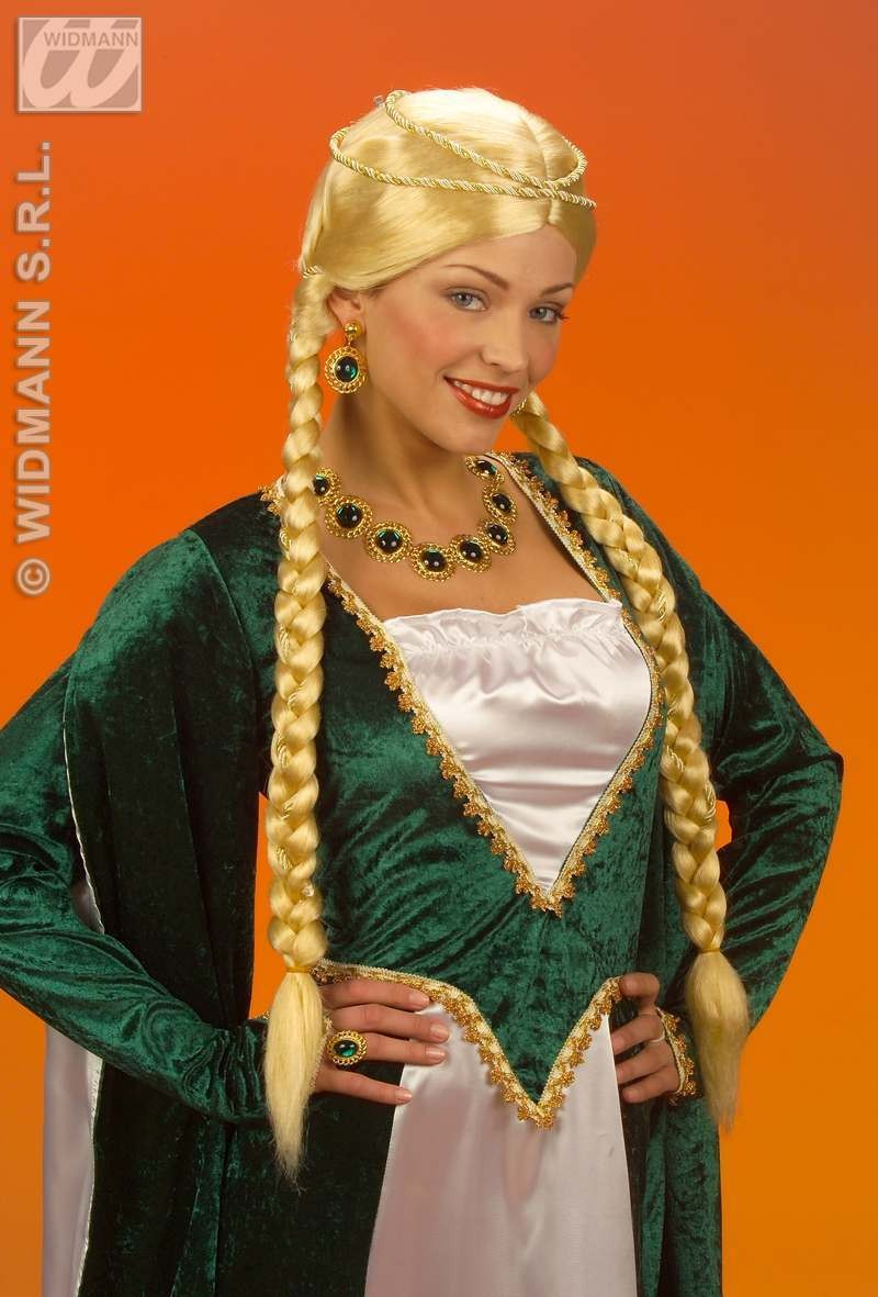 Renaissance Queen Wig Blonde - Fancy Dress (Royalty)