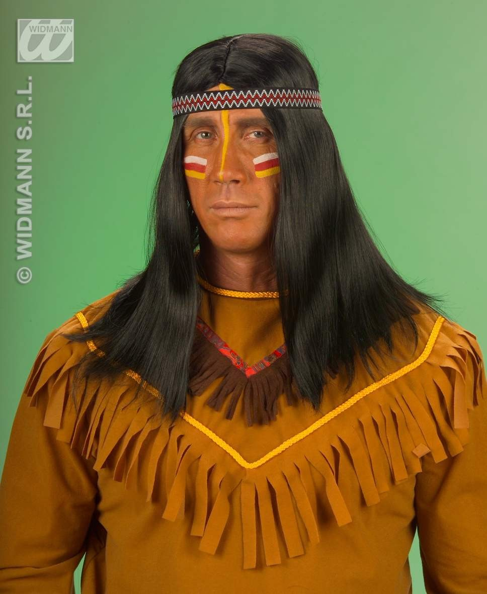 Native American Wig With Headband - Fancy Dress (Cowboys/Native Americans)