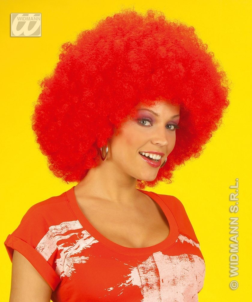 Jimmy Wig Extra Curly Red - Fancy Dress