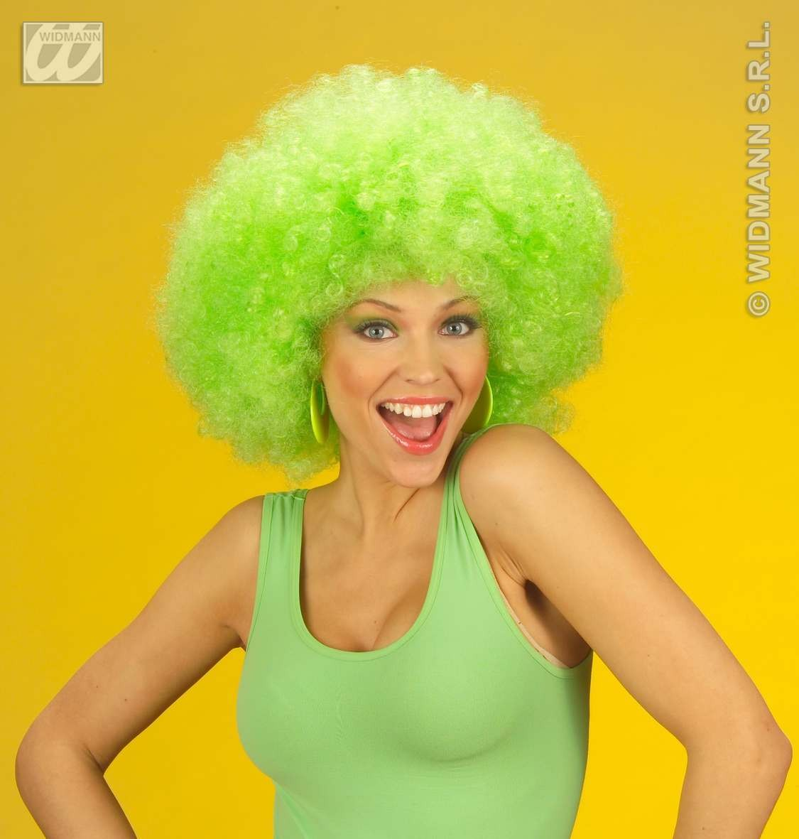 Jimmy Wig Extra Curly Green - Fancy Dress