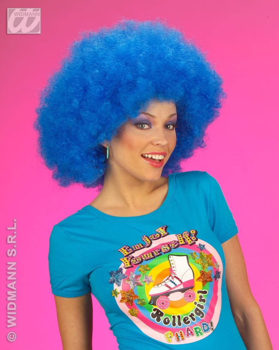 Jimmy Wig Extra Curly Blue - Fancy Dress
