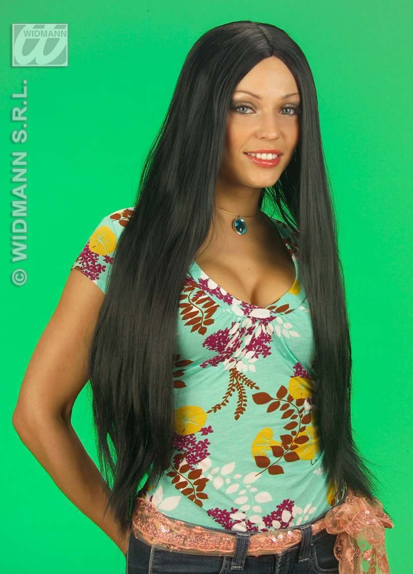 Extra Long Wig Boxed Black - Fancy Dress