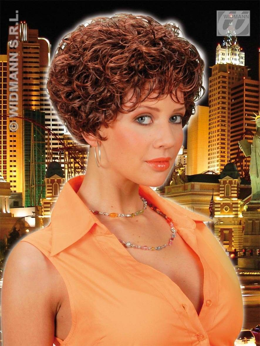 Whitney Wig Brown - Fancy Dress Ladies