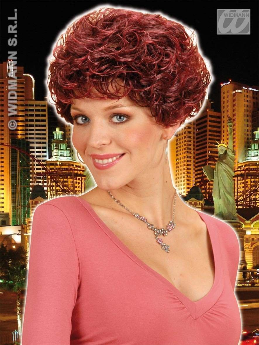 Whitney Wig Burgundy - Fancy Dress Ladies