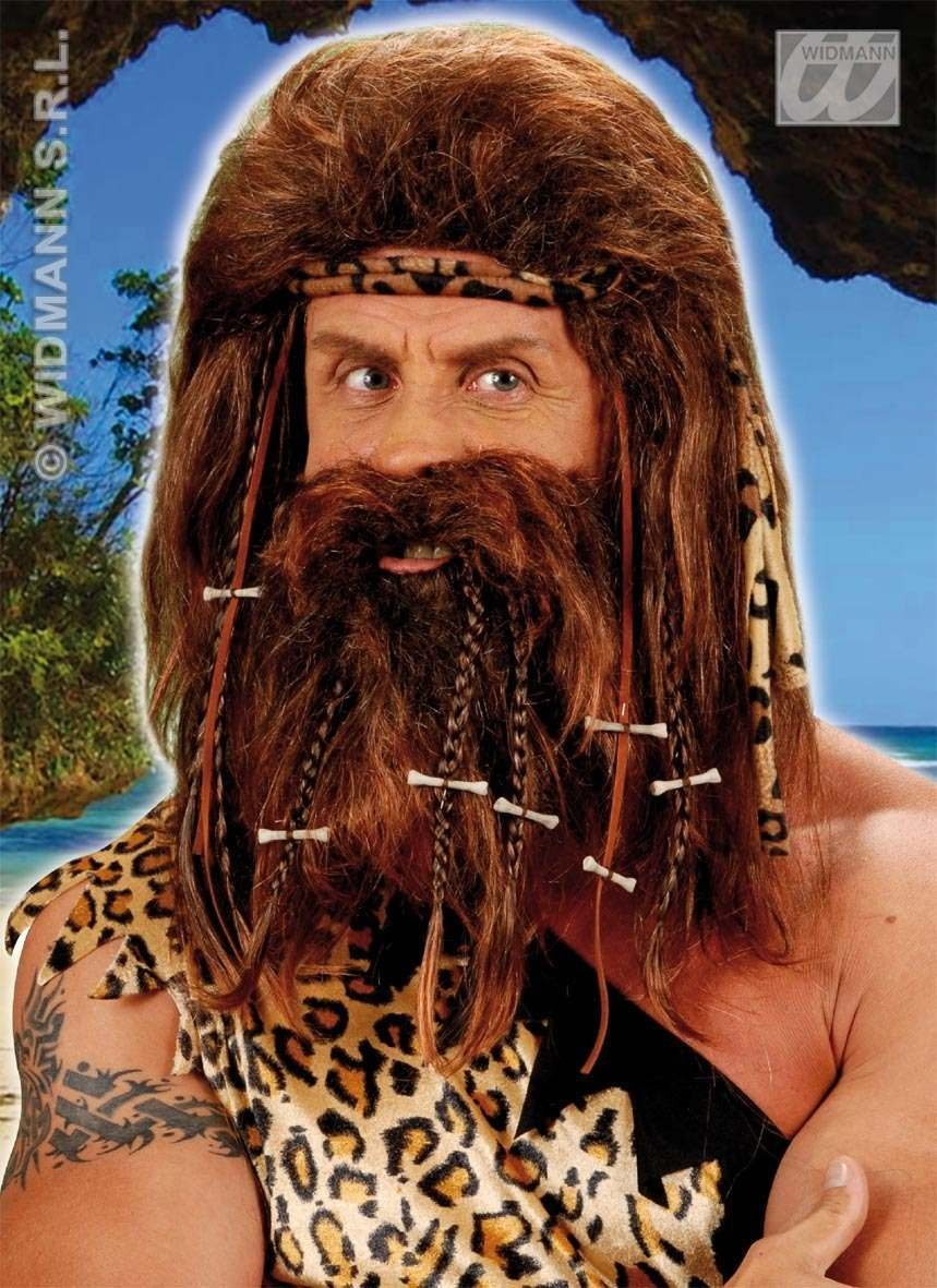 Caveman Wig & Beard - Fancy Dress