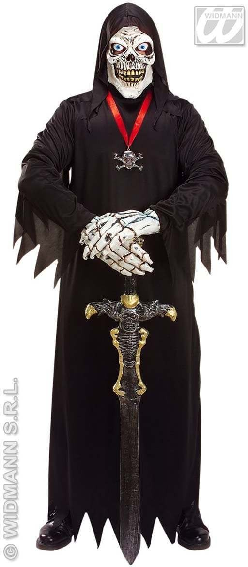Death Skeleton Set W/Mask Costume & Hands Costume (Halloween)