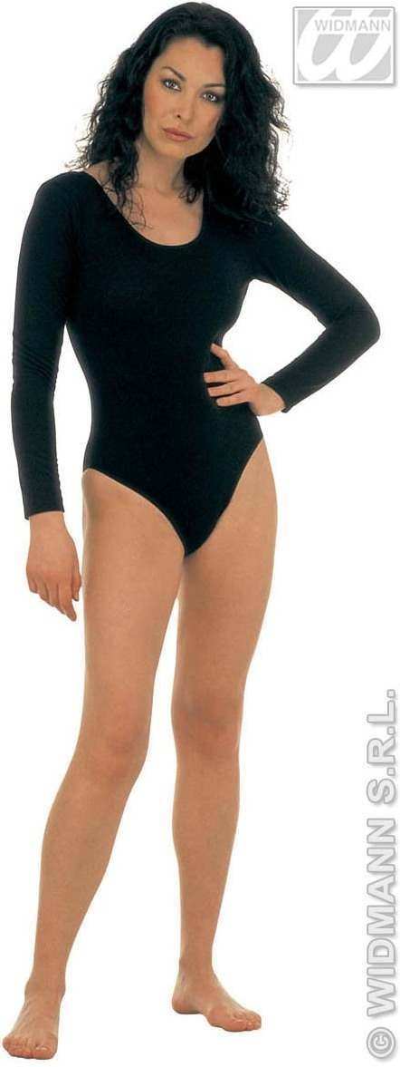 Lady Leotard Long Sleeves Black - Fancy Dress