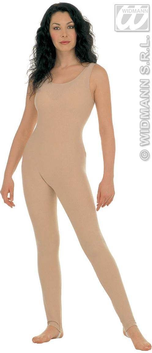 Lady Bodysuit W/Out Sleeves Beige - Fancy Dress