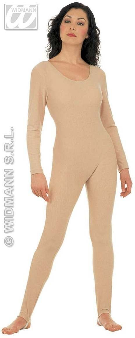 Lady Bodysuit W/Sleeves Beige - Fancy Dress