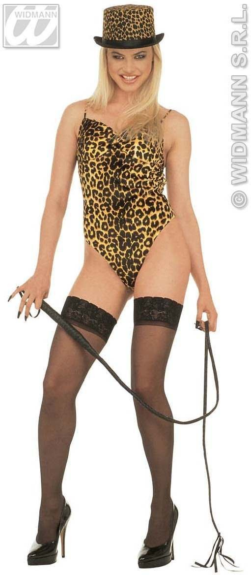 Lady Leopard Velvet Leotard - Fancy Dress