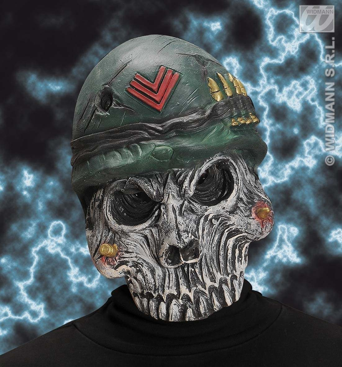 Army Skull Mask - Fancy Dress (Army)