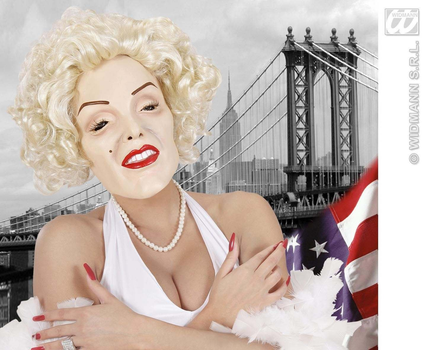 Foam Latex Masks - Marilyn Moviestar - Fancy Dress