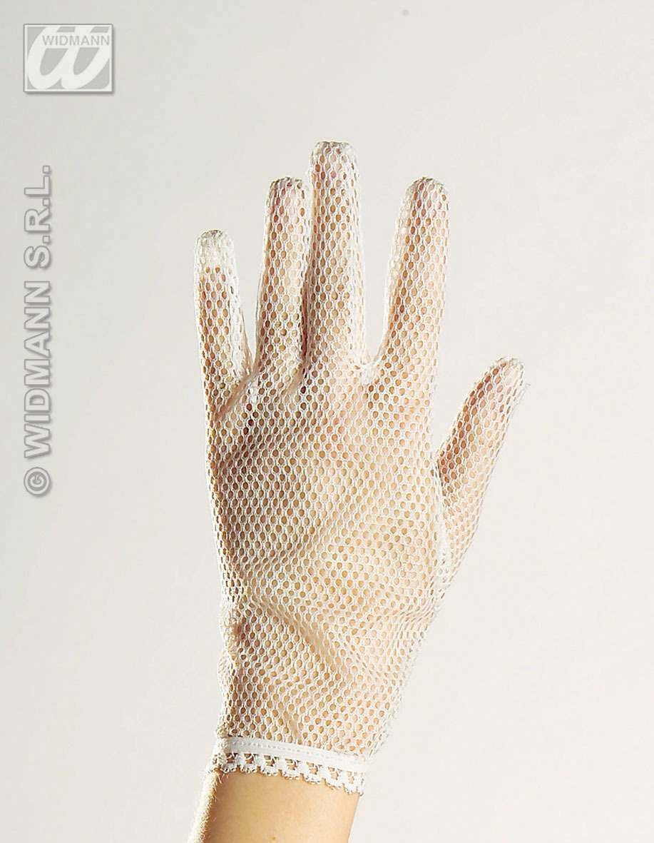 Gloves Net White - Fancy Dress