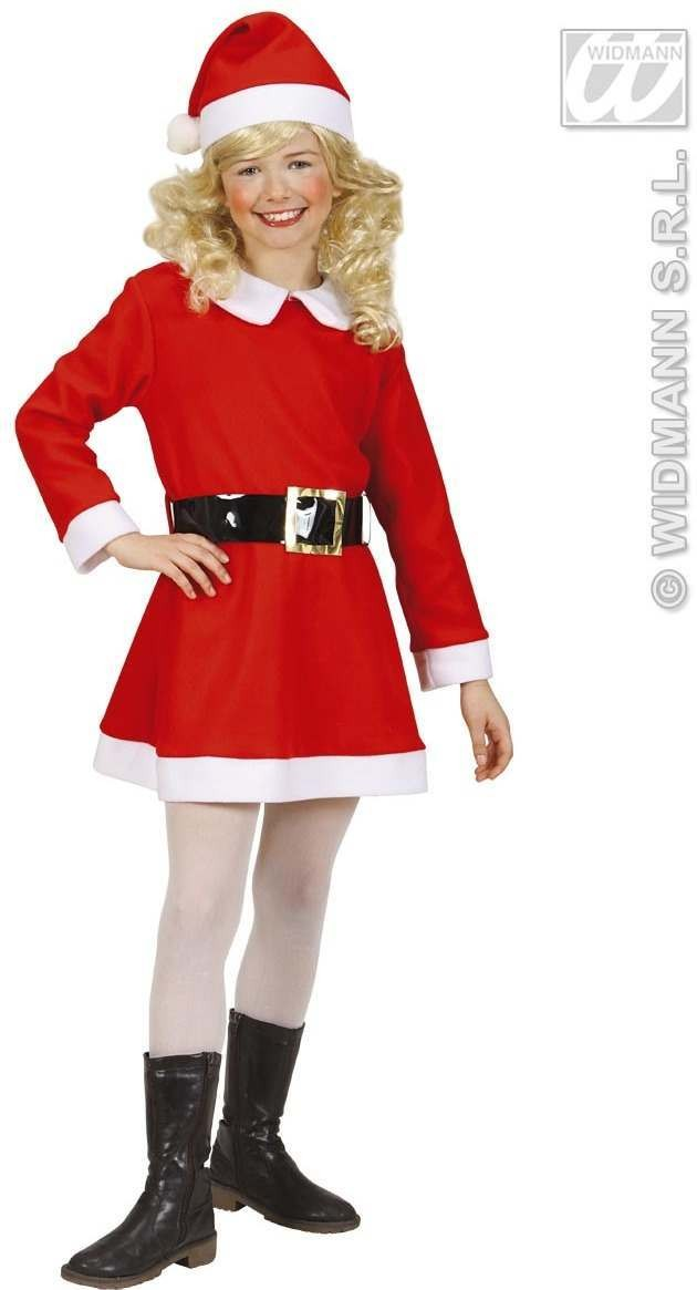 Flannel Santa Girl Fancy Dress Costume Girls (Christmas)