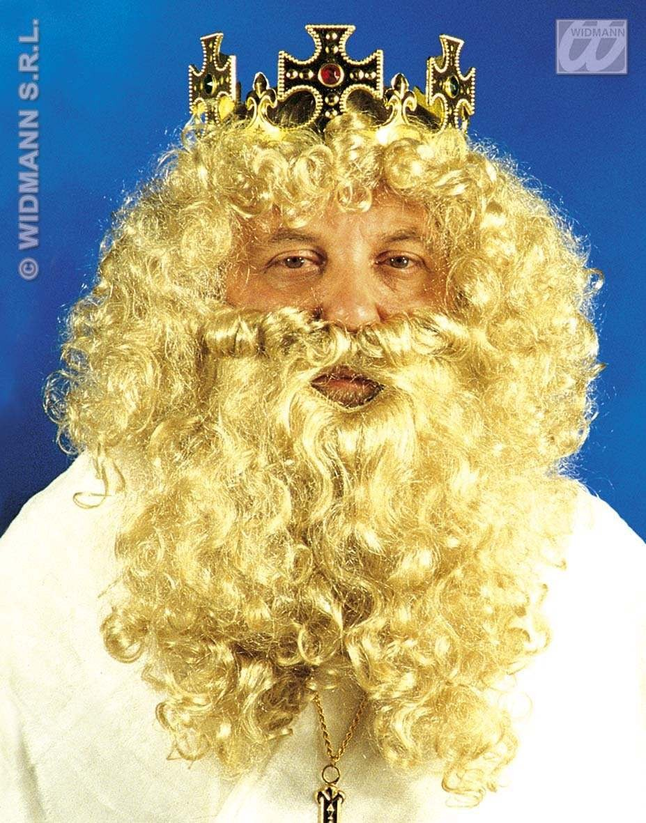 Deluxe King Wig/Beard Set In Box - Fancy Dress (Animals)