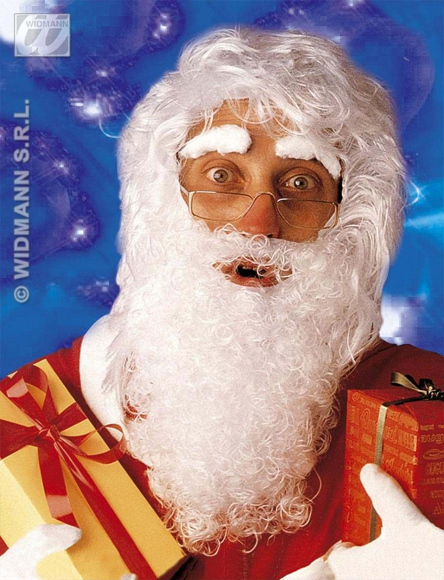 Santa Wig Maxi Beard Moust Eyebrows Fancy Dress Costume (Christmas)