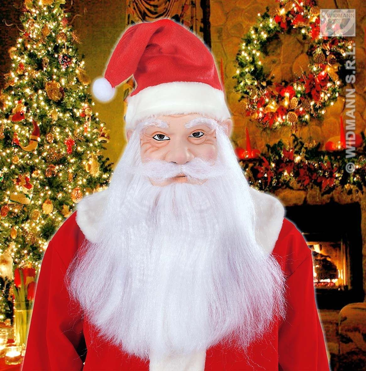 Santa Claus Masks Hat Wig Beard & Moustache Fancy Dress (Christmas)