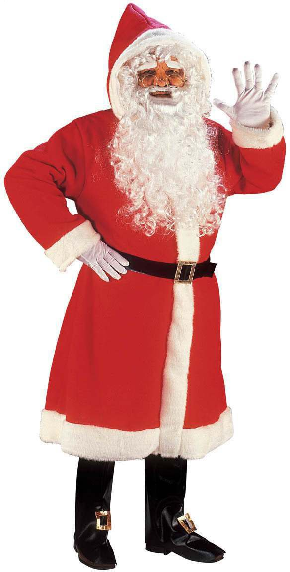 Santa Hooded Gown Super Deluxe Fancy Dress Costume (Christmas)
