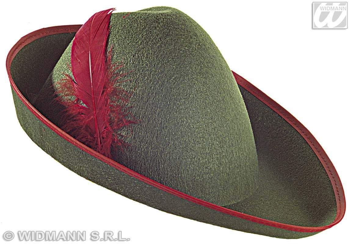 Robin Of Woods Felt Hat W/Feather - Fancy Dress