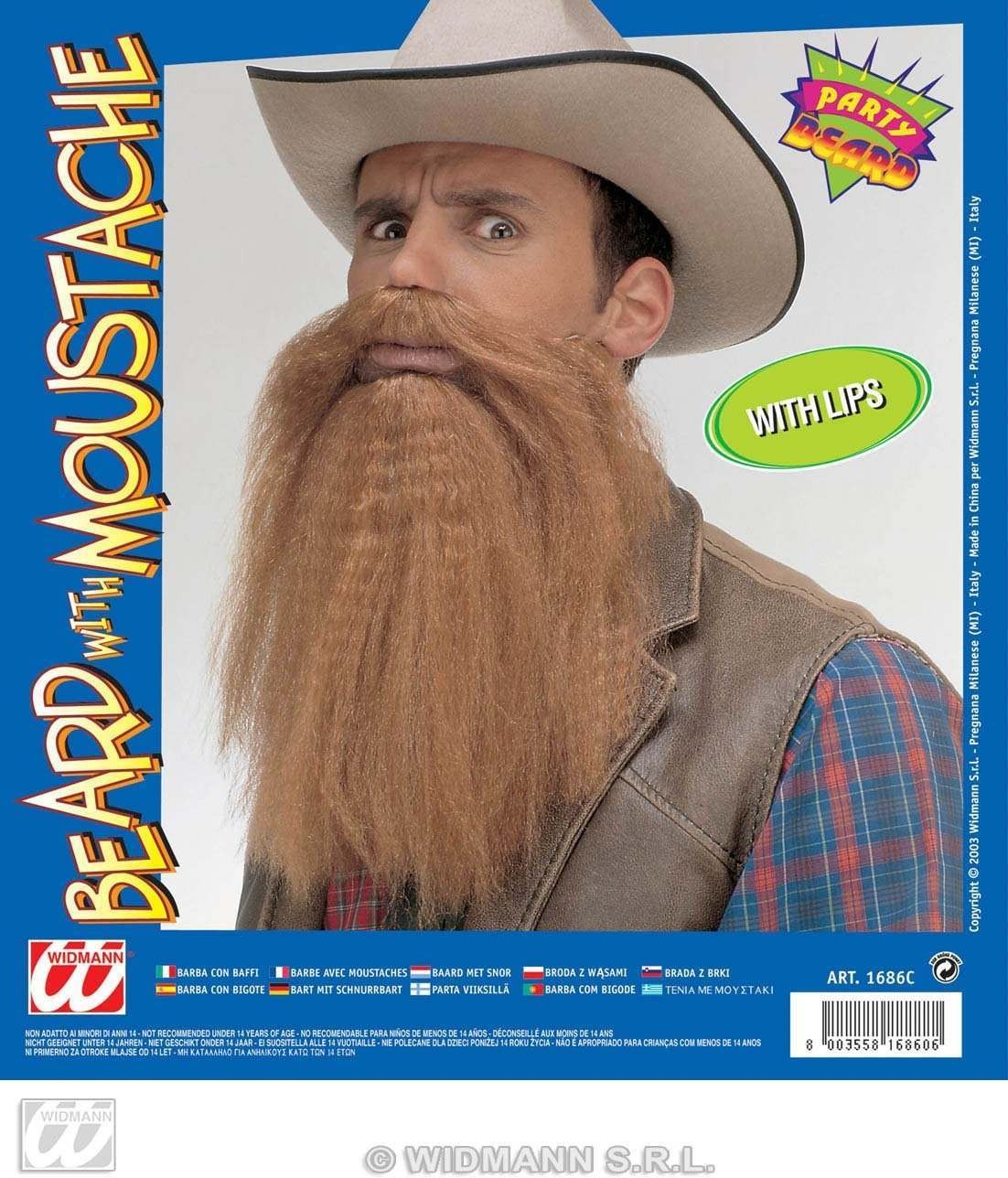 Beard/Moustache With Lips - Fancy Dress
