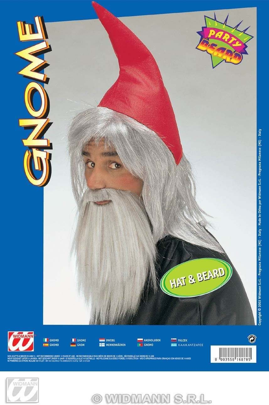 Gnome Hat And Beard Set - Fancy Dress (Animals)