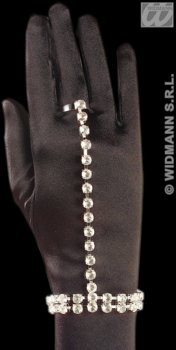 Rhinestone Bracelet/Ring Set - Fancy Dress