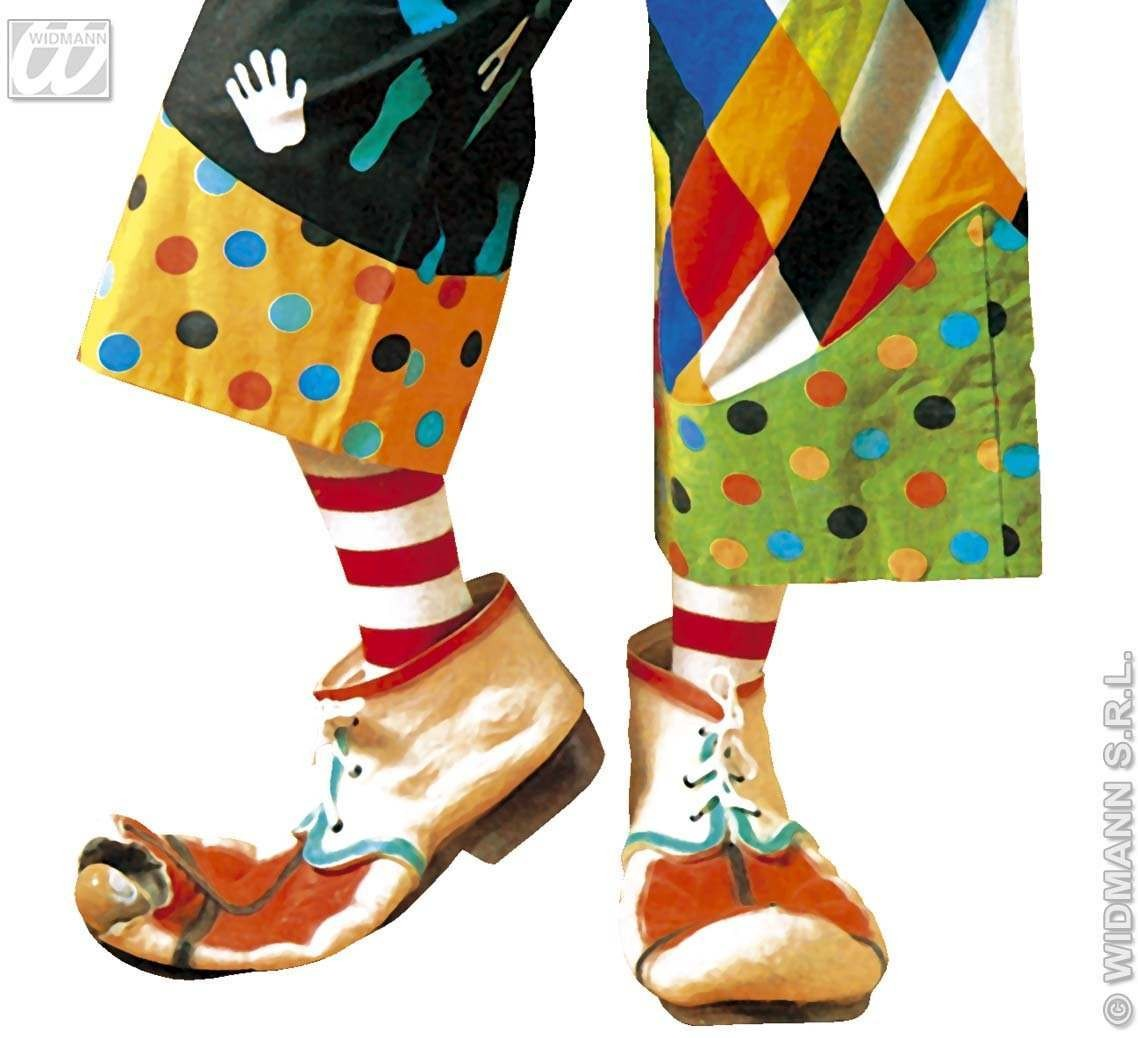 Latex Clown Shoes For Adults - Fancy Dress (Clowns)