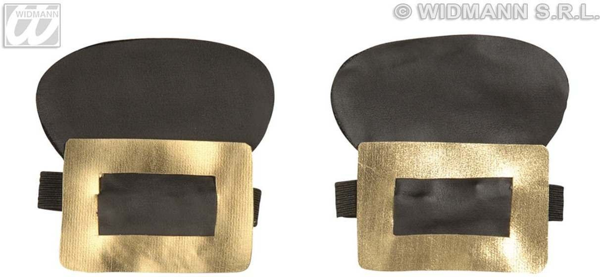 Shoe Buckles Leatherlook Gold/Silver - Fancy Dress