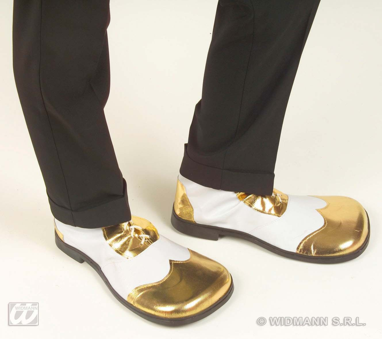 Party Shoes White/Gold Heavy Duty Sole - Fancy Dress