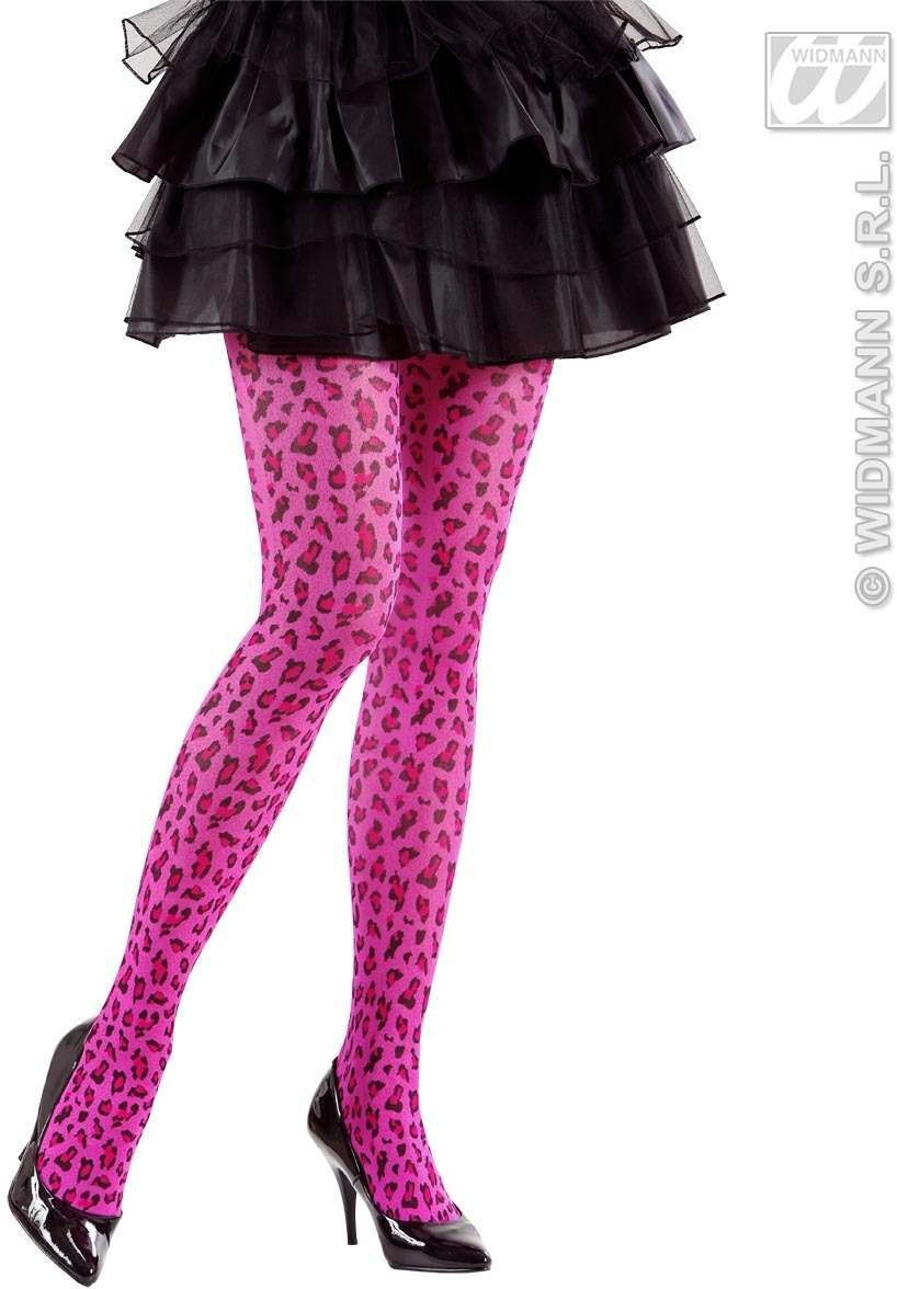 Pantyhose Pink Leopard 40 Den - Fancy Dress