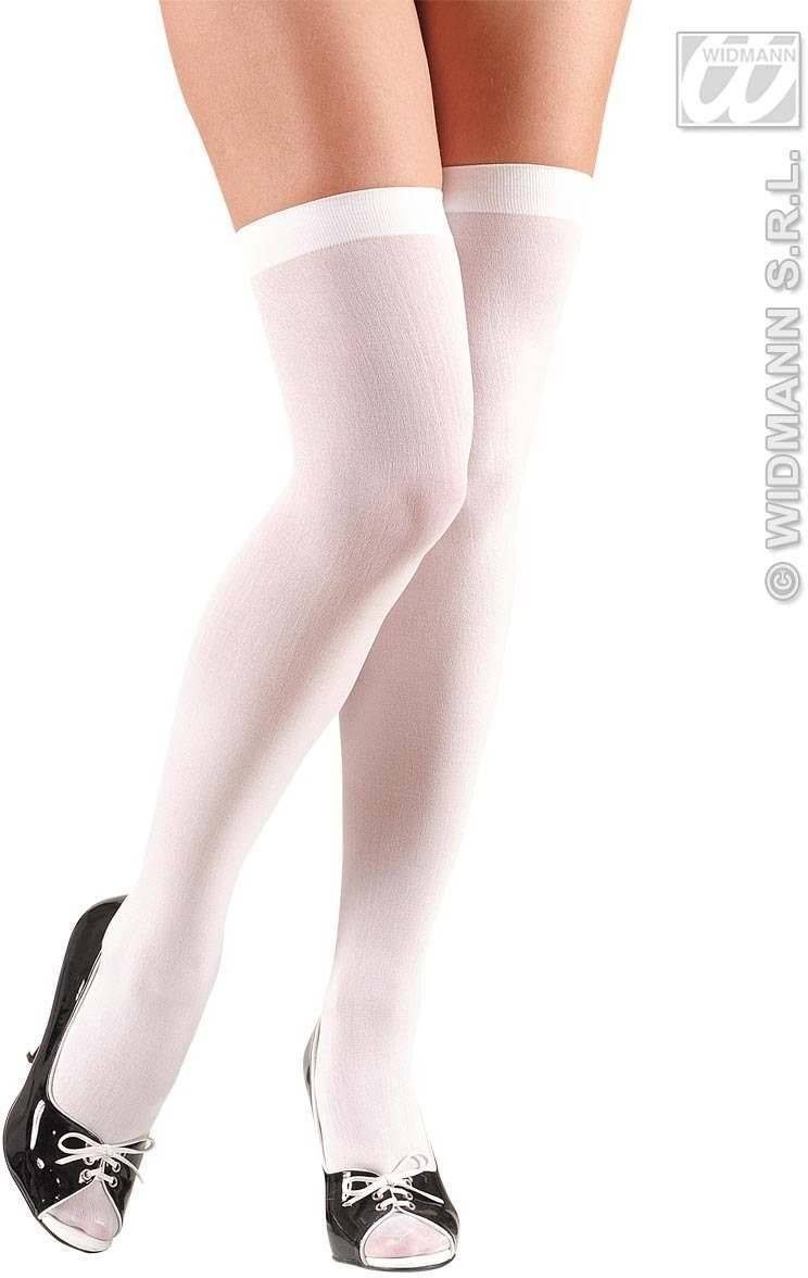 Xl Over Knee Socks 70 Den - White - Fancy Dress (Christmas)