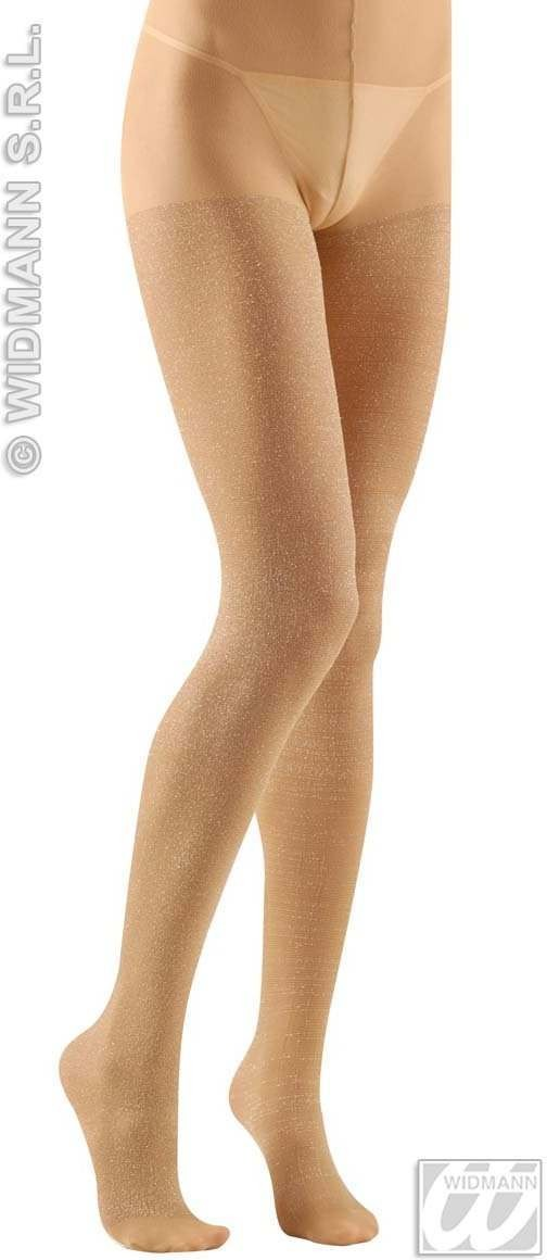 Xl Pantyhose Glitter 40 Denier Gold - Fancy Dress