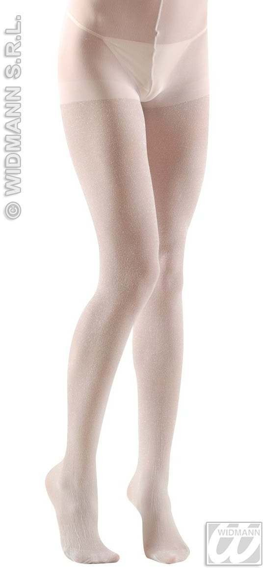 Xl Pantyhose Glitter 40 Denier White - Fancy Dress (Christmas)
