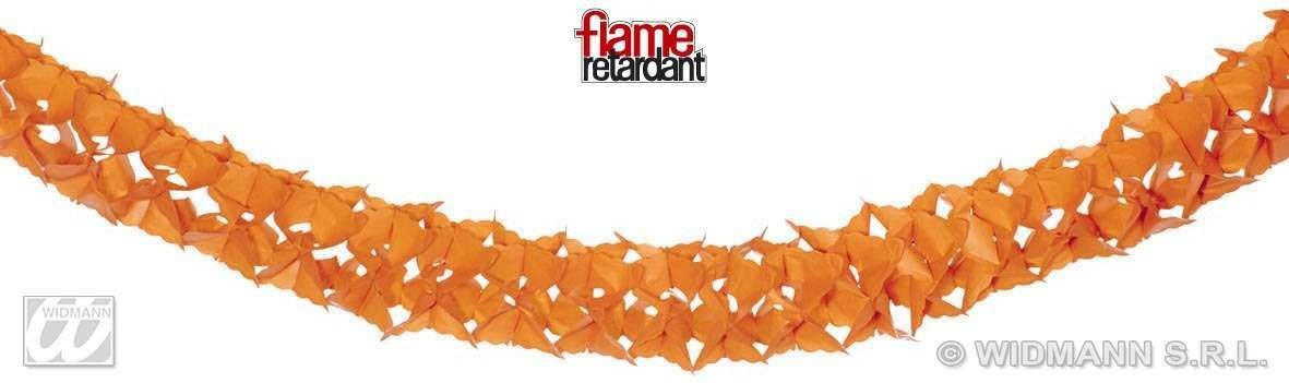 Colour Paper Garlands 4M 6 Cols Flame Ret Fancy Dress