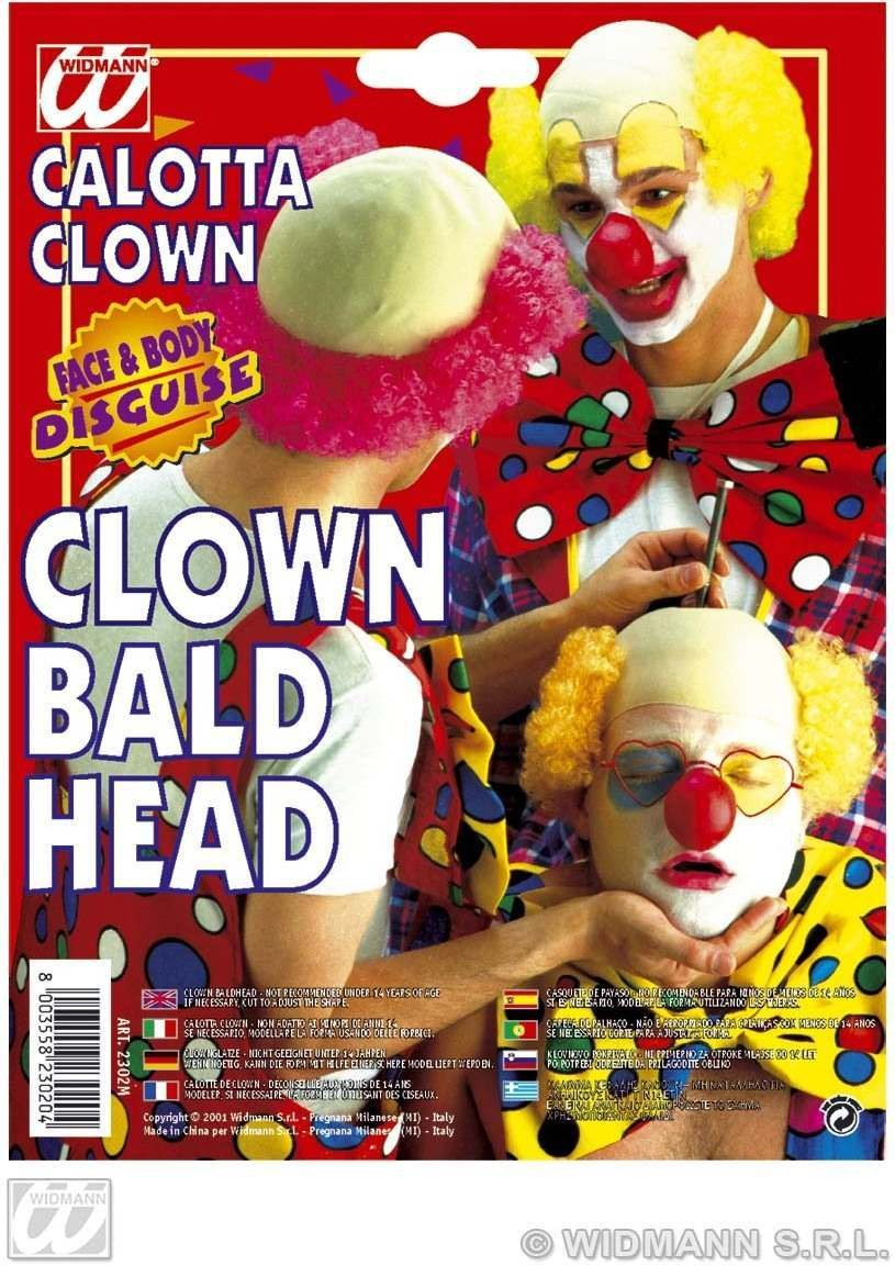 Clown Bald Head Latex W/Red Hair - Fancy Dress (Clowns)