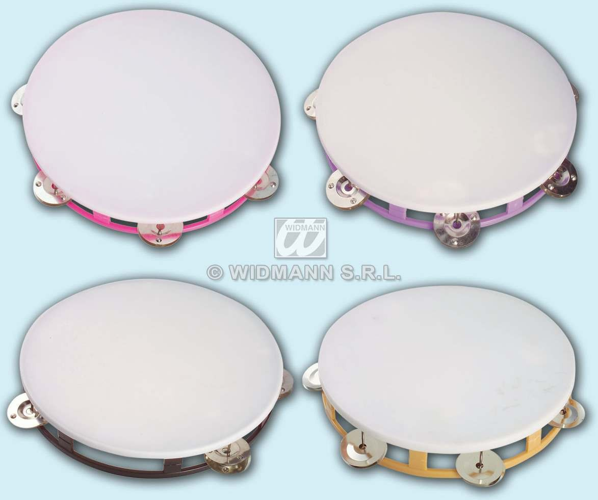 Tambourine 23Cm 4Cols - Fancy Dress
