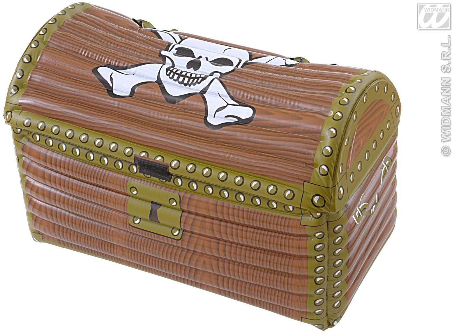 Infl Treasure Chest Coolers 60X30X30Cm - Fancy Dress