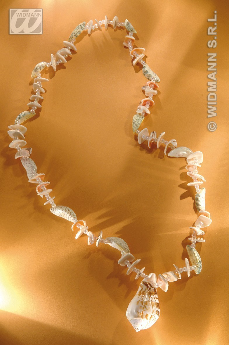 Real Shell Necklace W/Pendant - Fancy Dress