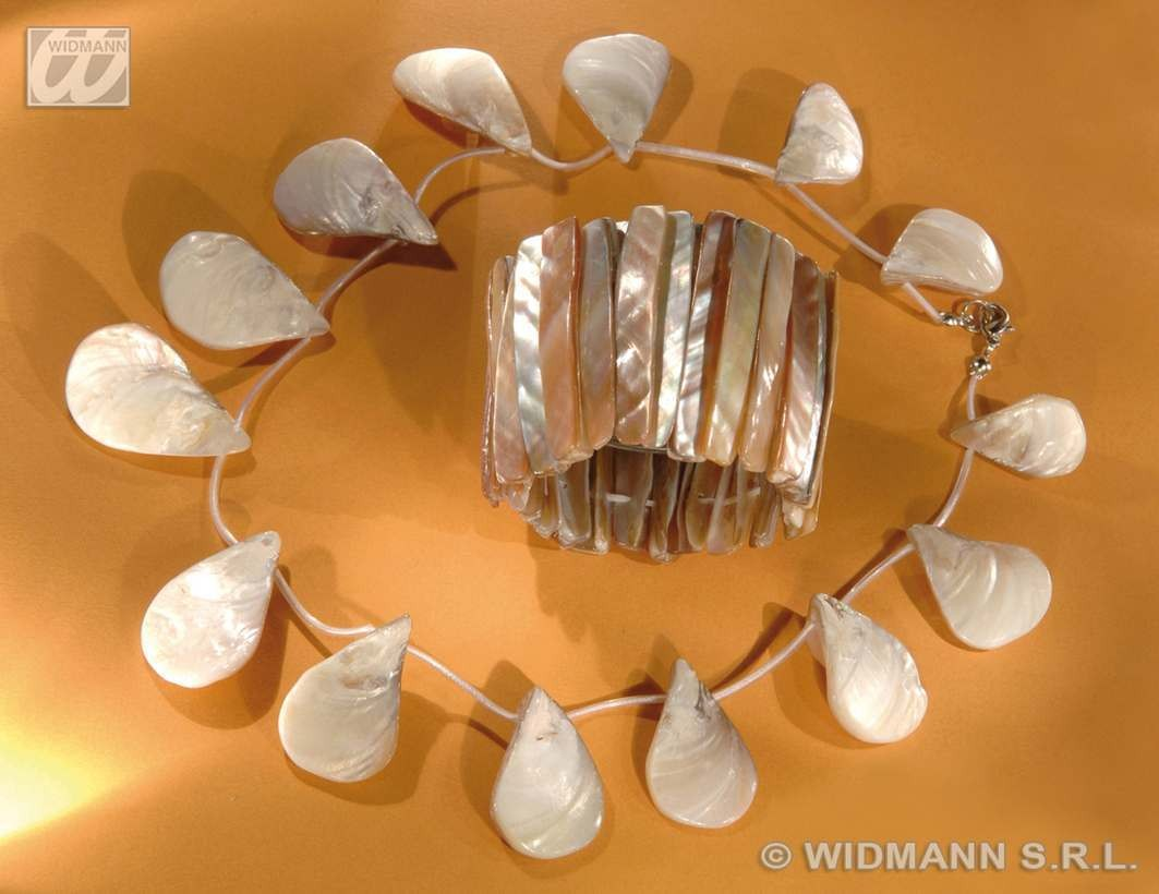 Mother Of Pearl Shell Necklace & Bracelet - Fancy Dress