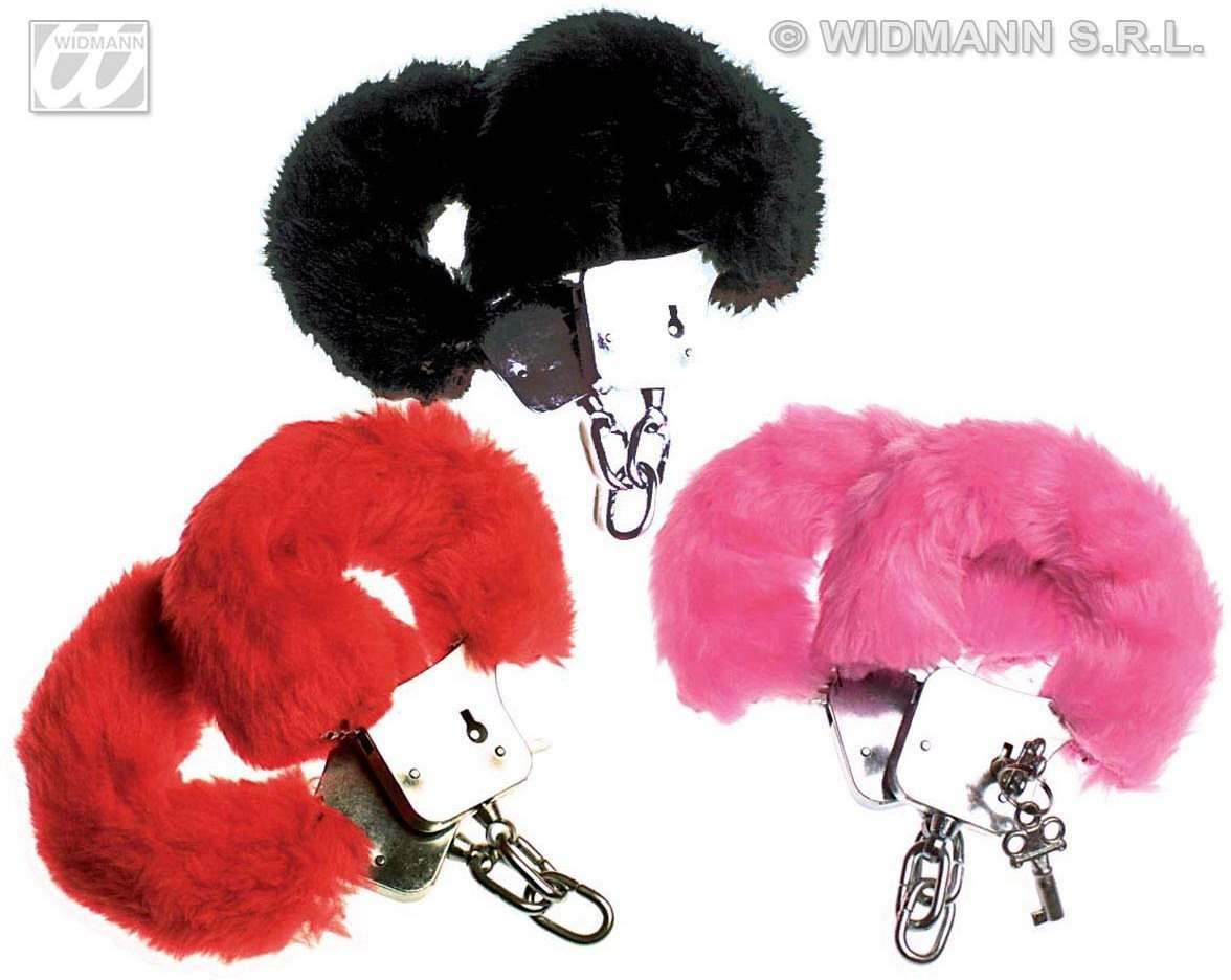 Furry Handcuffs 3 Colours - Fancy Dress