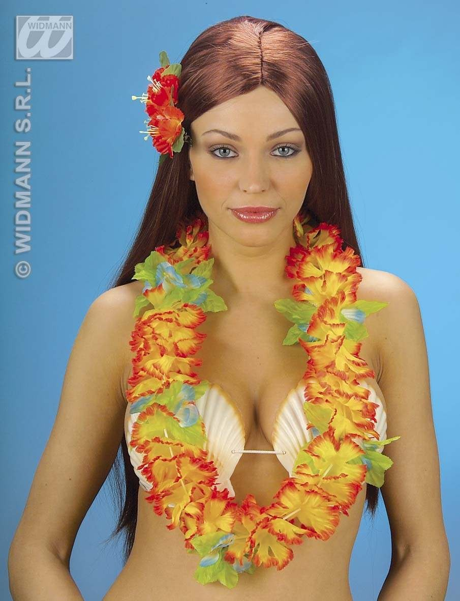 Aloha Hawaiian Leis Fabric - Fancy Dress (Hawaiian)
