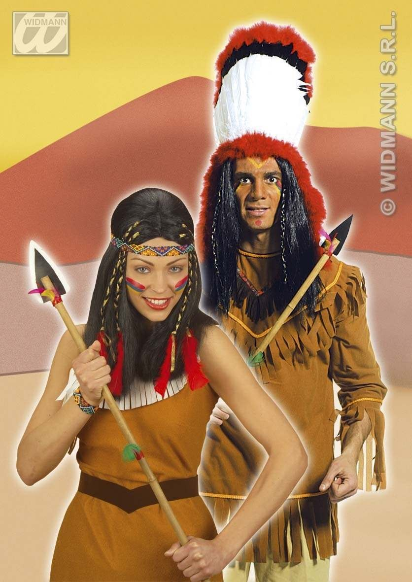 Native American Spear Bamboo 100Cm - Fancy Dress (Cowboys/Native Americans)