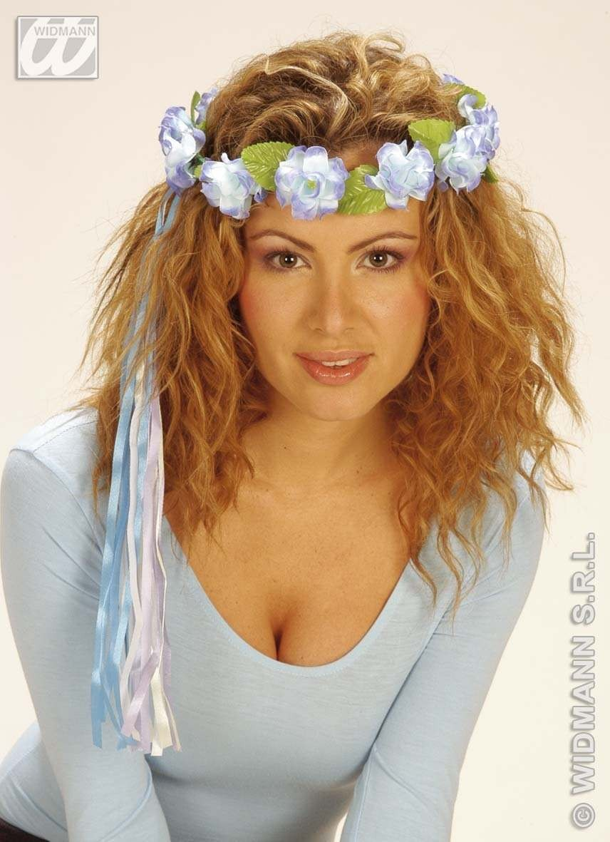 Flower Tiara W/Multi Strings - Fancy Dress