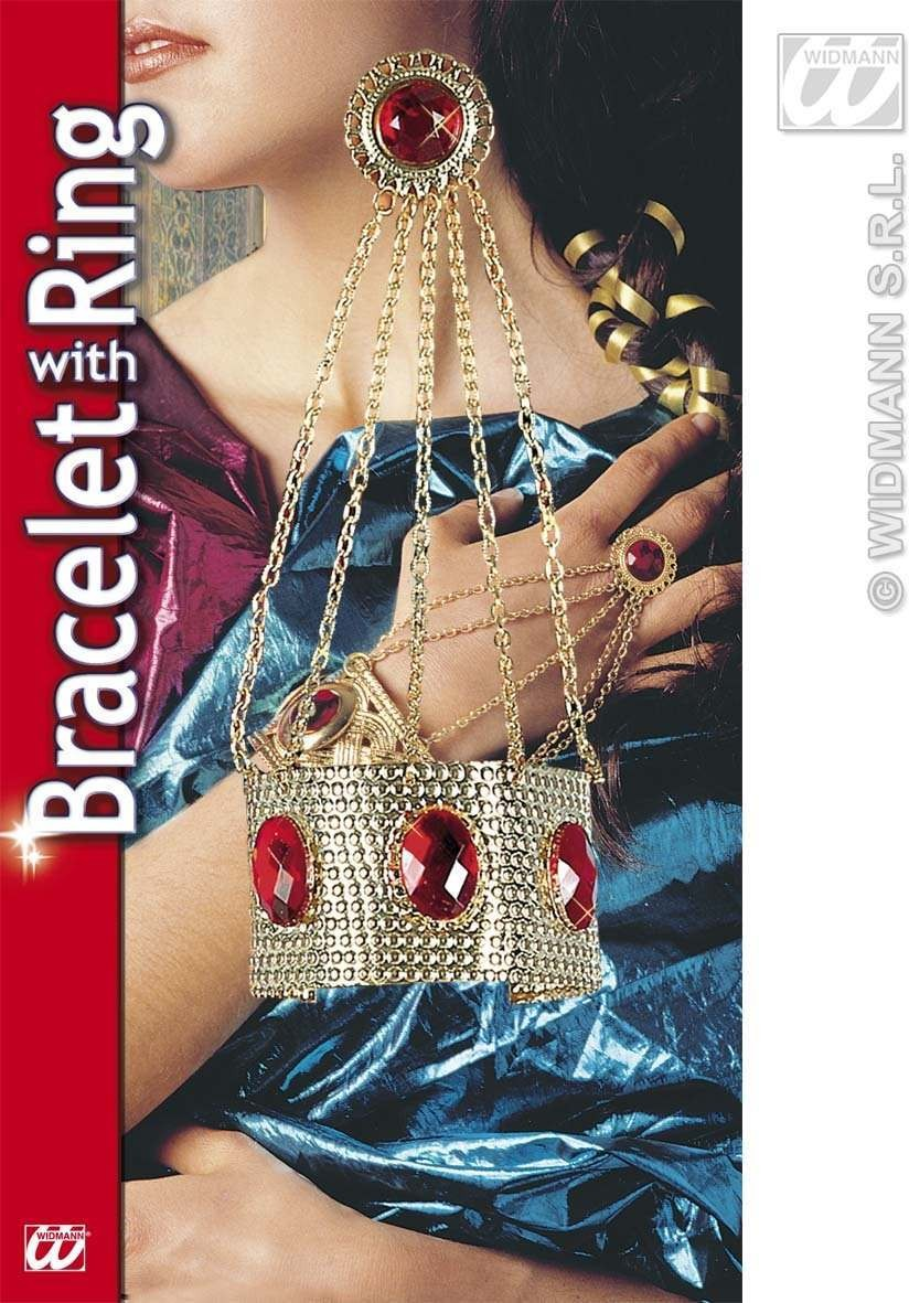 Bracelet With Chains And Ring - Fancy Dress