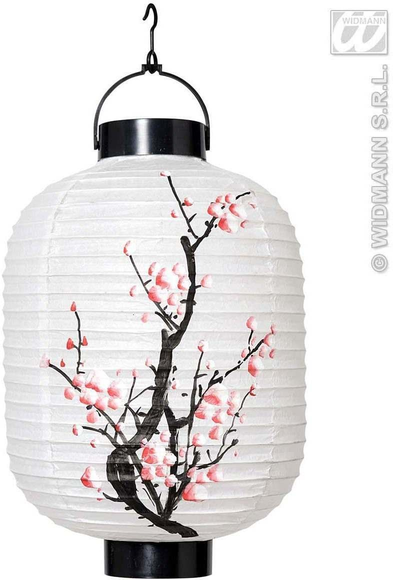 Led Light Oriental Lanterns 4 Cols 20Cm - Fancy Dress